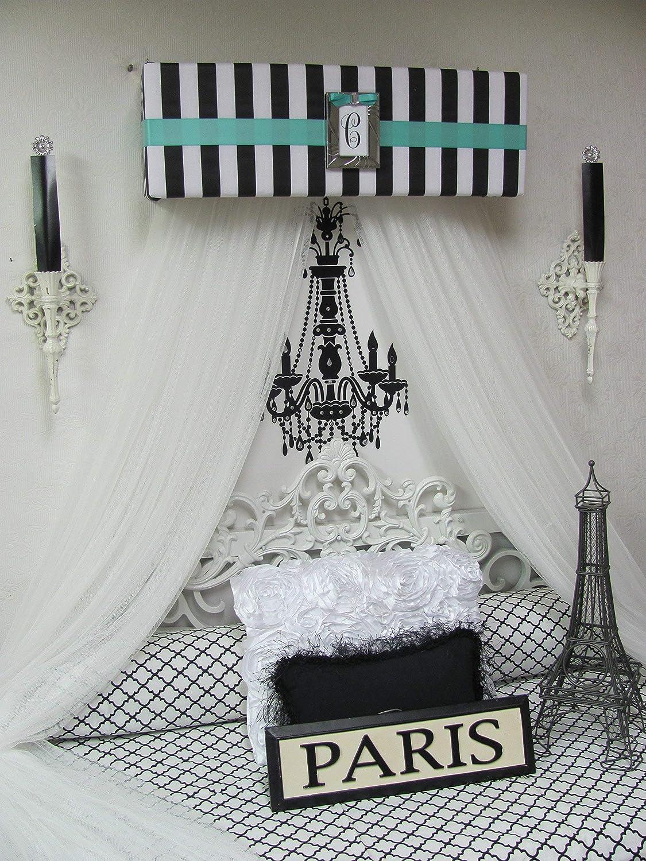 Amazon.com: Bed Canopy Crown Valance TIFFANY Blue Princess ...