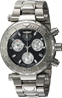 Invicta Mens Subaqua Quartz Stainless Steel Casual Watch, Color:Silver-Toned