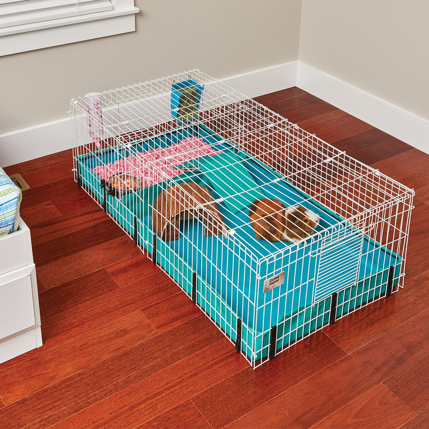 Guinea Habitat Plus Guinea Pig Cage by MidWest w/Top Panel, 47L x 24W x 14H Inches