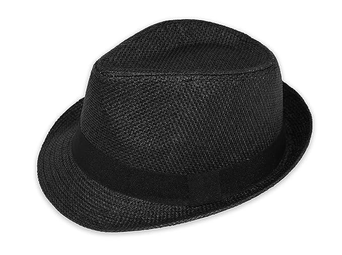 Blue Ocean Men Women Straw Fedora Hat at Amazon Men s Clothing store  df149db095c9