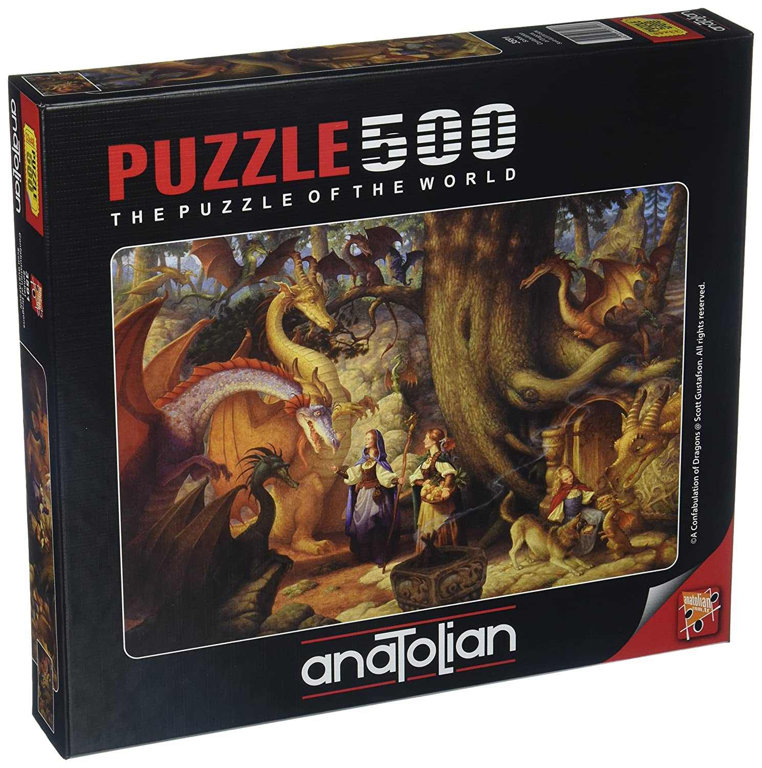 Anatolian ANA3591 Confabulation of Dragons Jigsaw Puzzle LIOU8