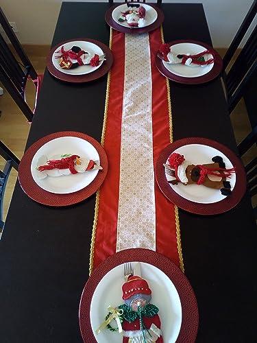 Camino de mesa para navidad: Amazon.es: Handmade