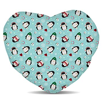 Amazon.com: Cute Pingüinos forro polar – Cojín con forma de ...
