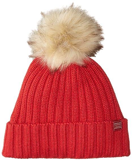 d0a5d6ebe62 Joules Pop-A-Pom Hat Detachable Pom NO SIZE Red  Amazon.co.uk  Clothing