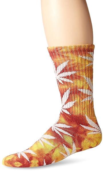 HUF hombre Tie Dye PlantLife Calcetines de SP16 - Rojo -: Amazon.es: Ropa y accesorios