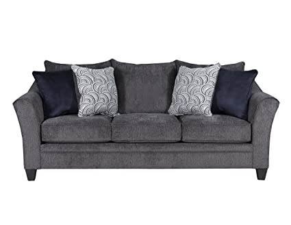 Simmons Upholstery 6485 03 Albany Sofa, Pewter