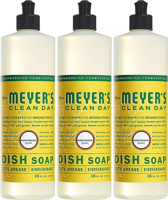 Clean Day Jabón Líquido de la señora Meyer, madreselva 16 Fl Oz ...