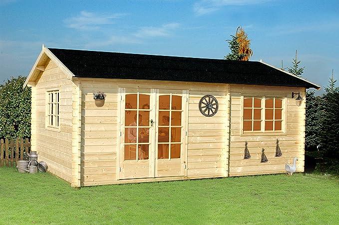 Gartenpro Arkansas – Casita de madera de jardín de color de abeto natural: Amazon.es: Jardín