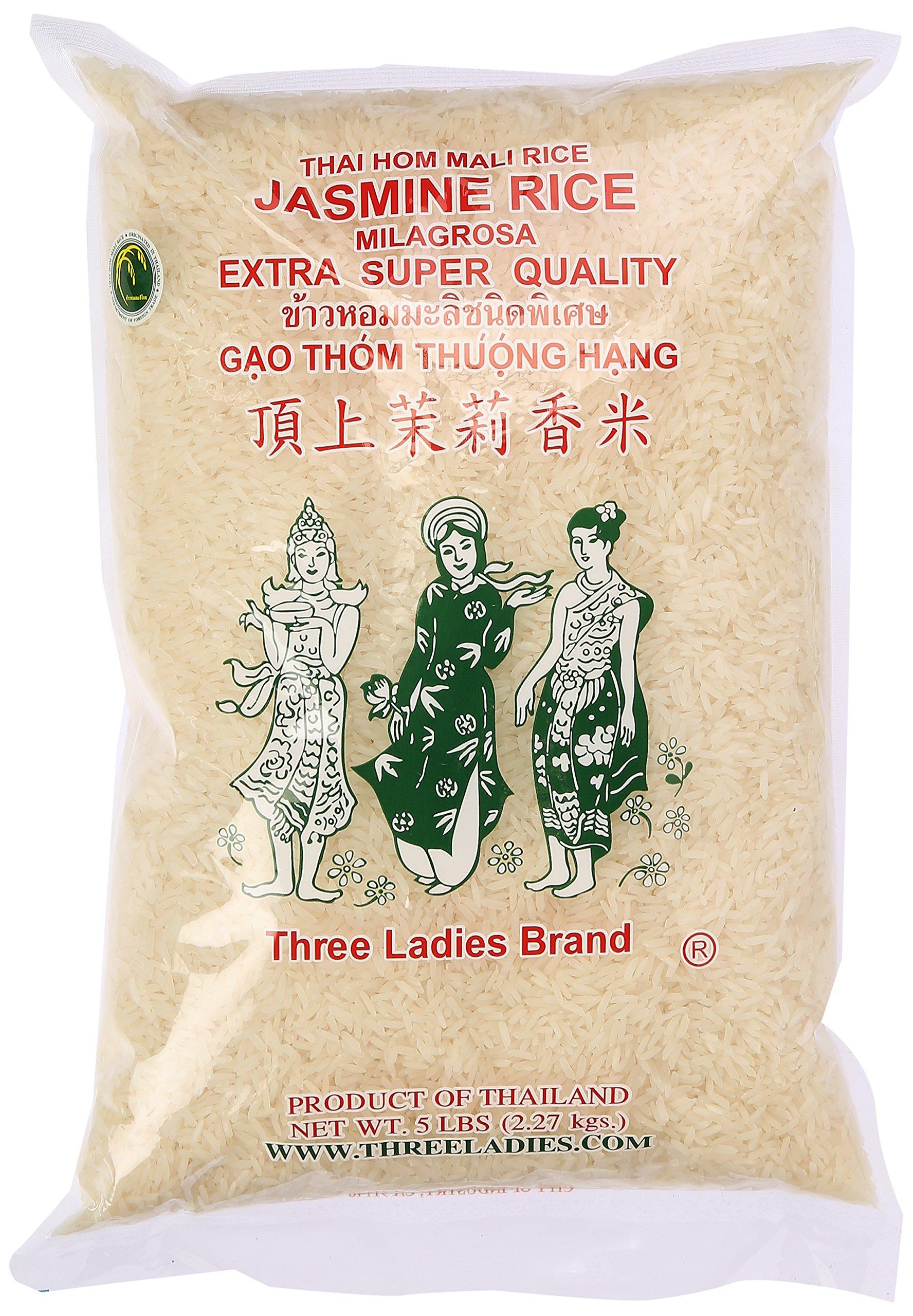 Amazon.com : Three Ladies Brown Jasmine Rice 5 lbs