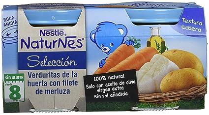 NESTLÉ SELECCIÓN puré de verduras y carne, variedad Verduritas de la Huerta con filete de
