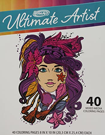 Amazon.com: RoseArt Ultimate Artist 40 Page Coloring Book: Toys ...