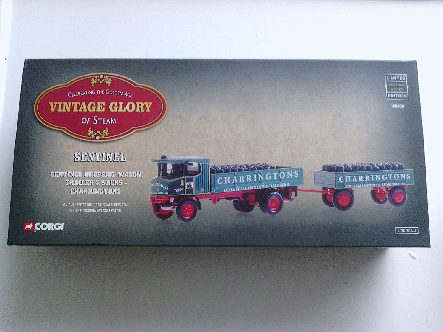 Corgi 1/50 Scale 80009 - Sentinel Dropside Wagon & Sacks - Charringtons B004JIXLPU