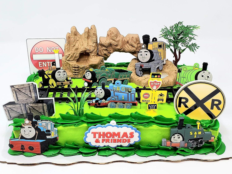 Wondrous Thomas Friends The Train Birthday Cake Topper Set Featuring Birthday Cards Printable Opercafe Filternl