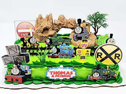 Excellent Thomas Friends The Train Birthday Cake Topper Set Featuring Funny Birthday Cards Online Fluifree Goldxyz