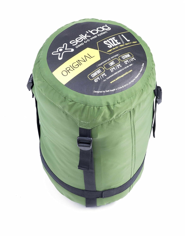 SELKBAG Saco de dormir Modelo 5G ORIGINAL Color Verde,Talla M: Amazon.es: Deportes y aire libre