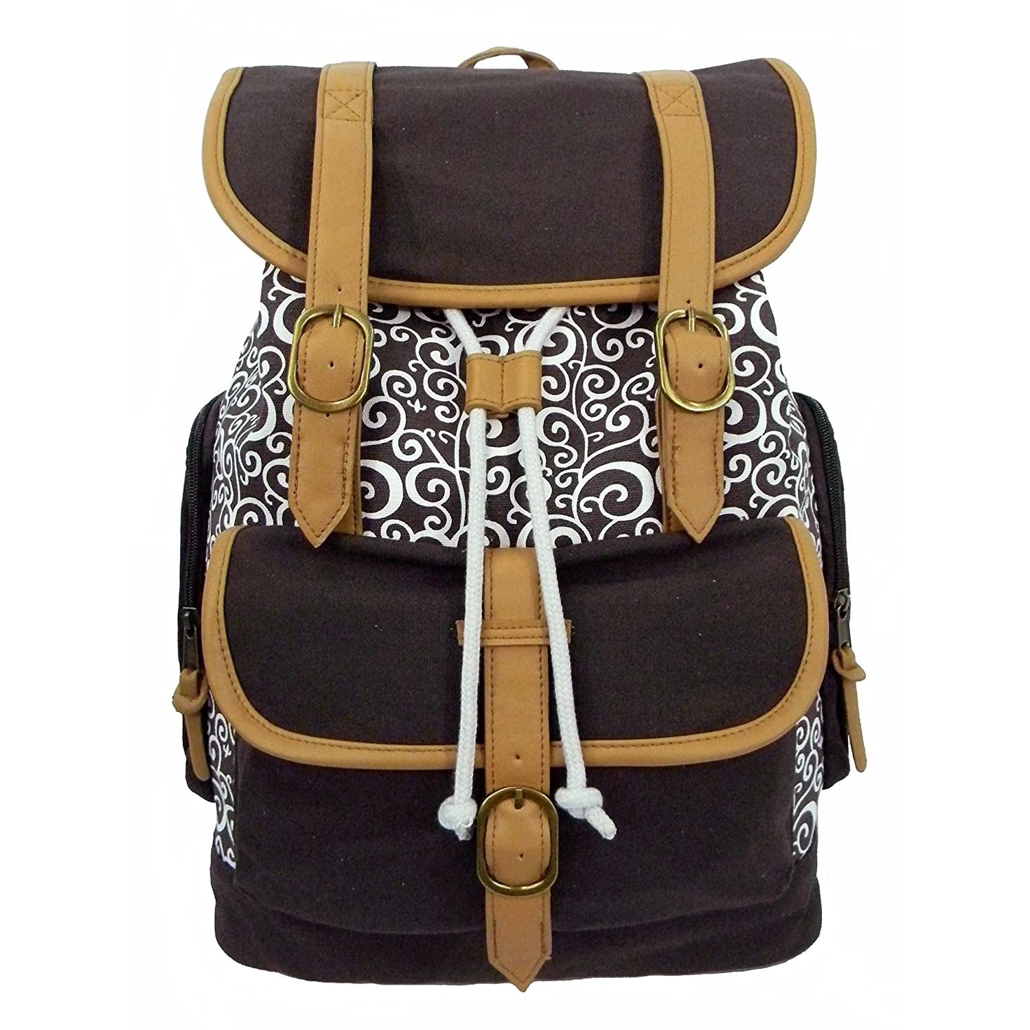 free shipping K-Cliffs Canvas Laptop Book-Bag Cotton Daypack Vintage Casual College Student School Bag/Backpack