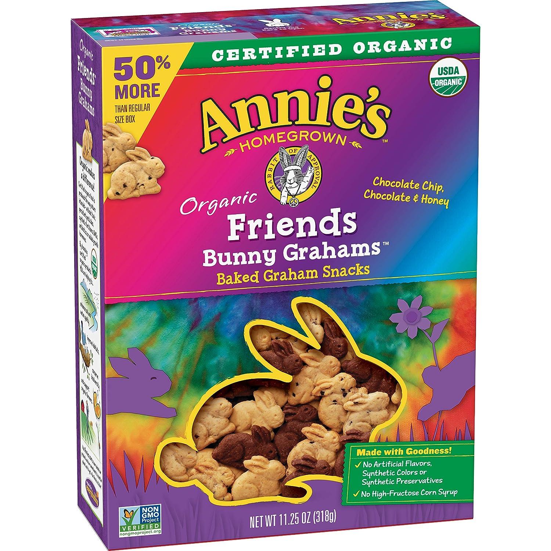 Annie's Organic Friends Bunny Grahams Snacks, 11.25 oz