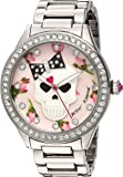 Betsey Johnson Women's Quartz Metal and Alloy Casual Watch, Color:Silver-Toned (Model: BJ00517-49)