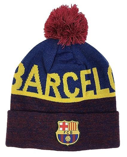 115ecd84e86 Amazon.com  FC Barcelona Soccer Pom Beanie (Style 28)  Clothing