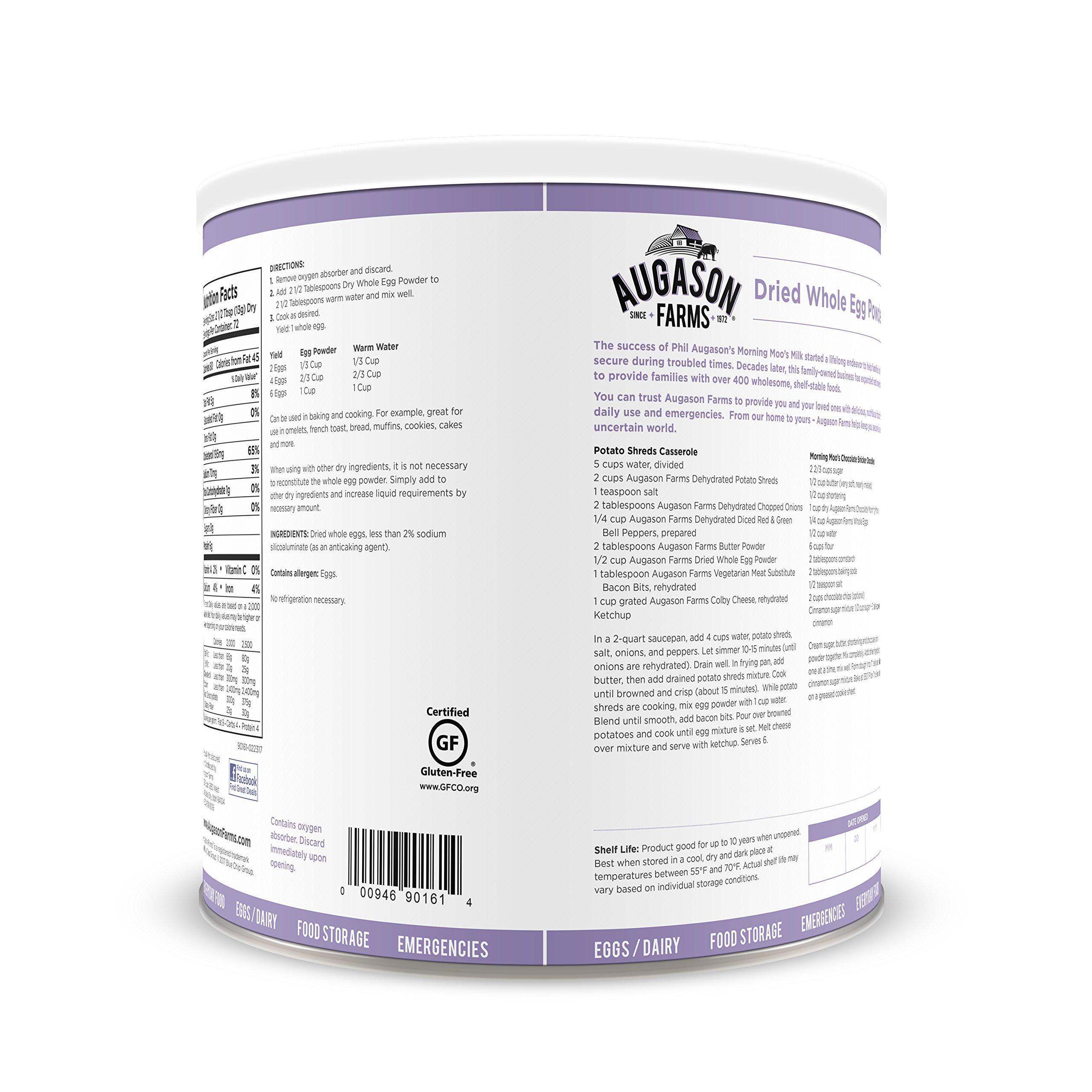 Augason Farms Dried Whole Egg Product 2 lbs 1 oz No. 10 Can by Augason Farms (Image #4)