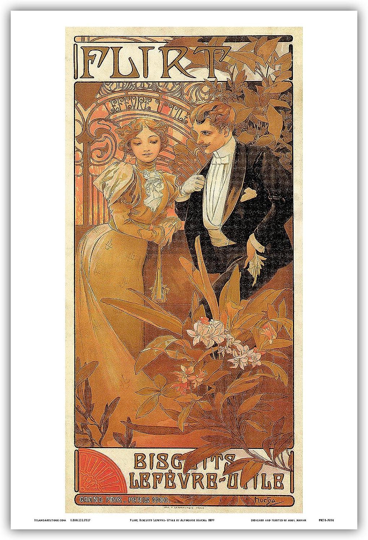 1899 La Primevere Vintage French Nouveau France Poster Print Advertisement