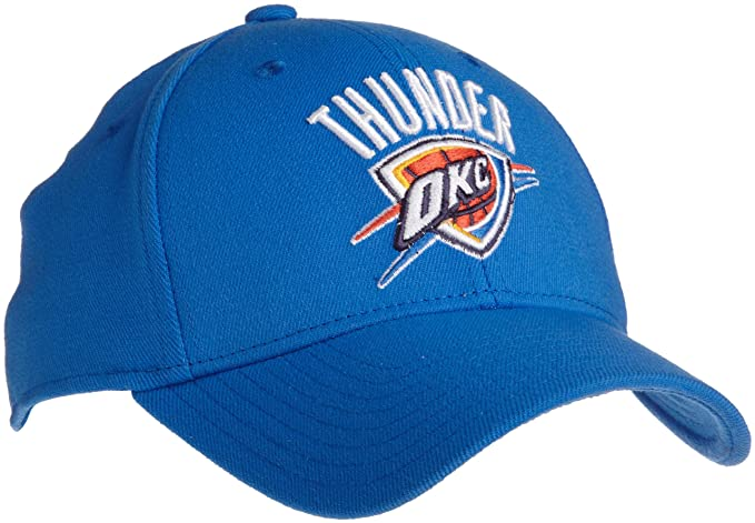 1a26d934764 Amazon.com : NBA Oklahoma City Thunder Flex Fit Hat, Light Blue,  Large/X-Large : Sports Fan Baseball Caps : Clothing
