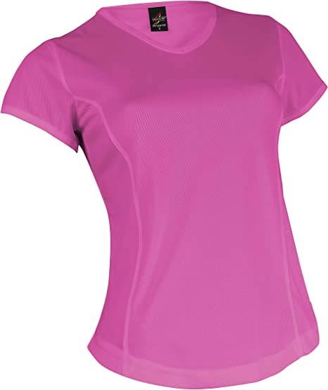CAMISETA DEPORTE TÉCNICA DRY MUJER CUELLO PICO FITNESS HQUALITY (XXL, ROSA): Amazon.es: Deportes y aire libre
