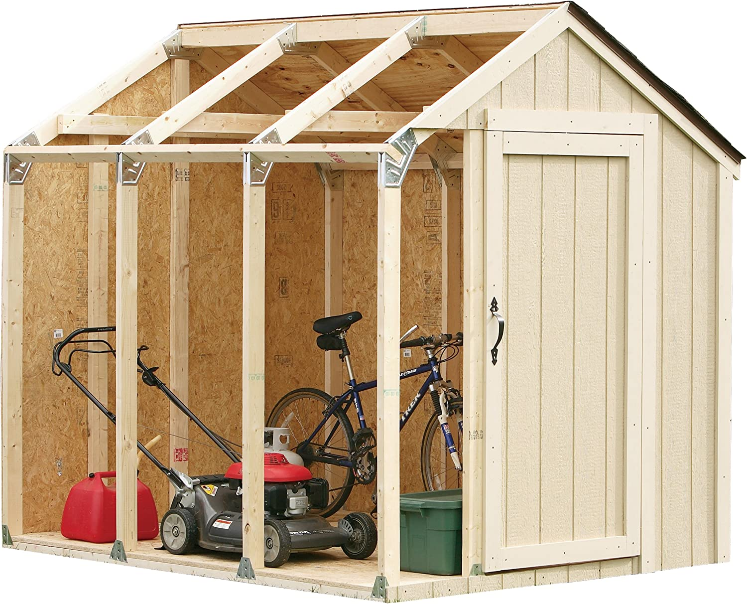 Amazon Com 2x4basics 90192mi Custom Shed Kit With Peak Roof Storage Sheds Garden Outdoor