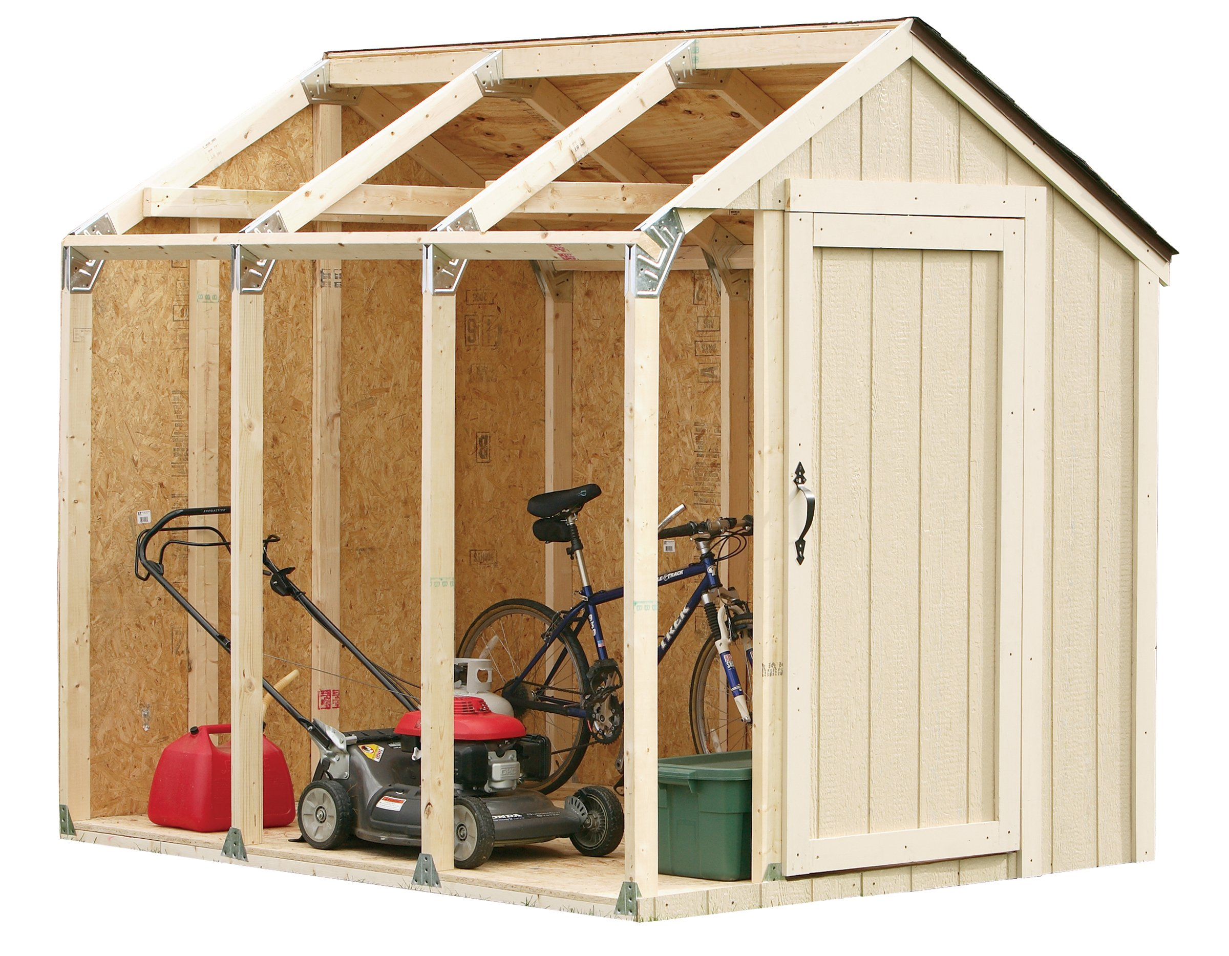 2x4basics 90192MI Custom Shed Kit with Peak Roof