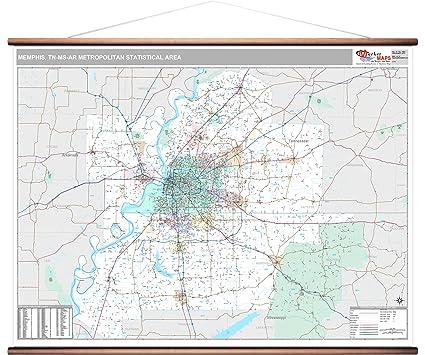 Amazon Com Marketmaps Memphis Tn Metro Area Wall Map 2018 Zip