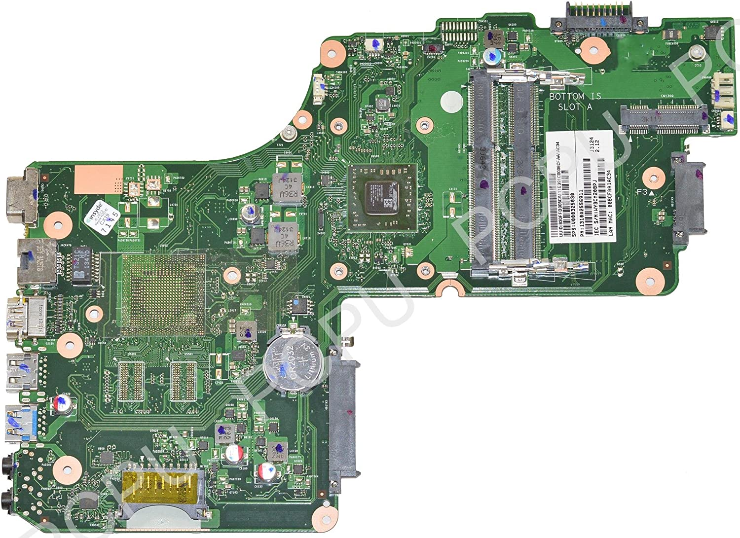 Toshiba Satellite C55D Laptop Motherboard AMD A6-5200 2.0GHz 6050A2556901-MB-A02