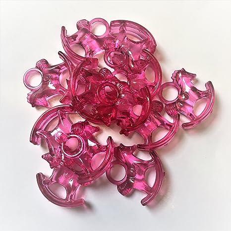 10 x color rosa oscuro transparente colgante con forma de ...