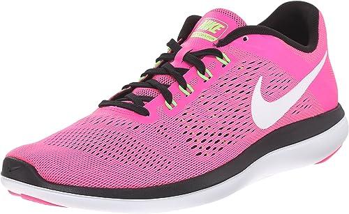 Nike Wmns Flex 2016 RN, Zapatillas para Mujer, Rosa (Pnk Blast/White Blk Elctrc Grn), 41 EU: Amazon.es: Zapatos y complementos
