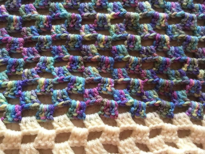 Amazoncom Handmade Crochet Granny Square Throw Lap Afghan Lap