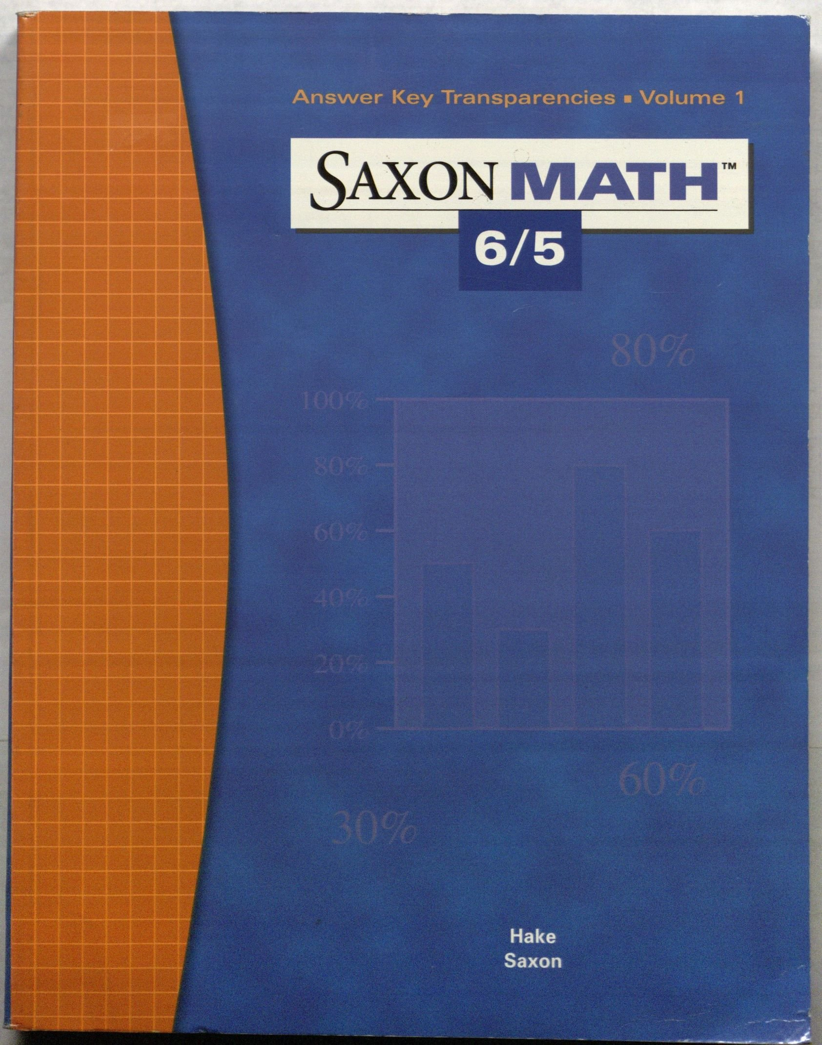 Download Saxon Math 6/5: Answer Key Transparencies, Vol. 1 PDF