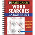 Brain Games - Word Searches - Large Print (Red)
