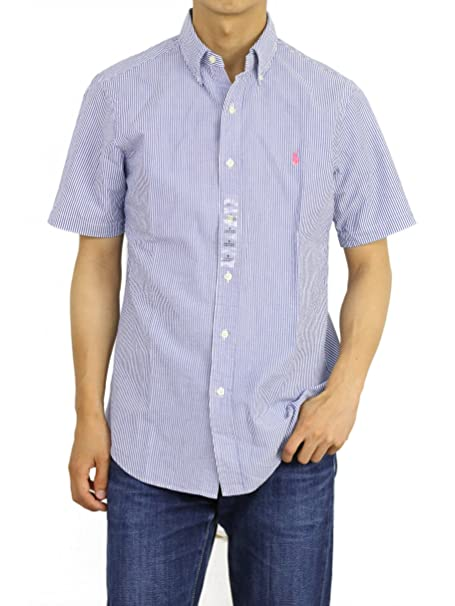 f31724dee Image Unavailable. Image not available for. Color  Polo Ralph Lauren Mens Short  Sleeve Seersucker Sport Shirt ...