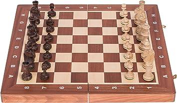 Square - Ajedrez de Madera Nº 4 - Caoba - Tablero de ajedrez + ...