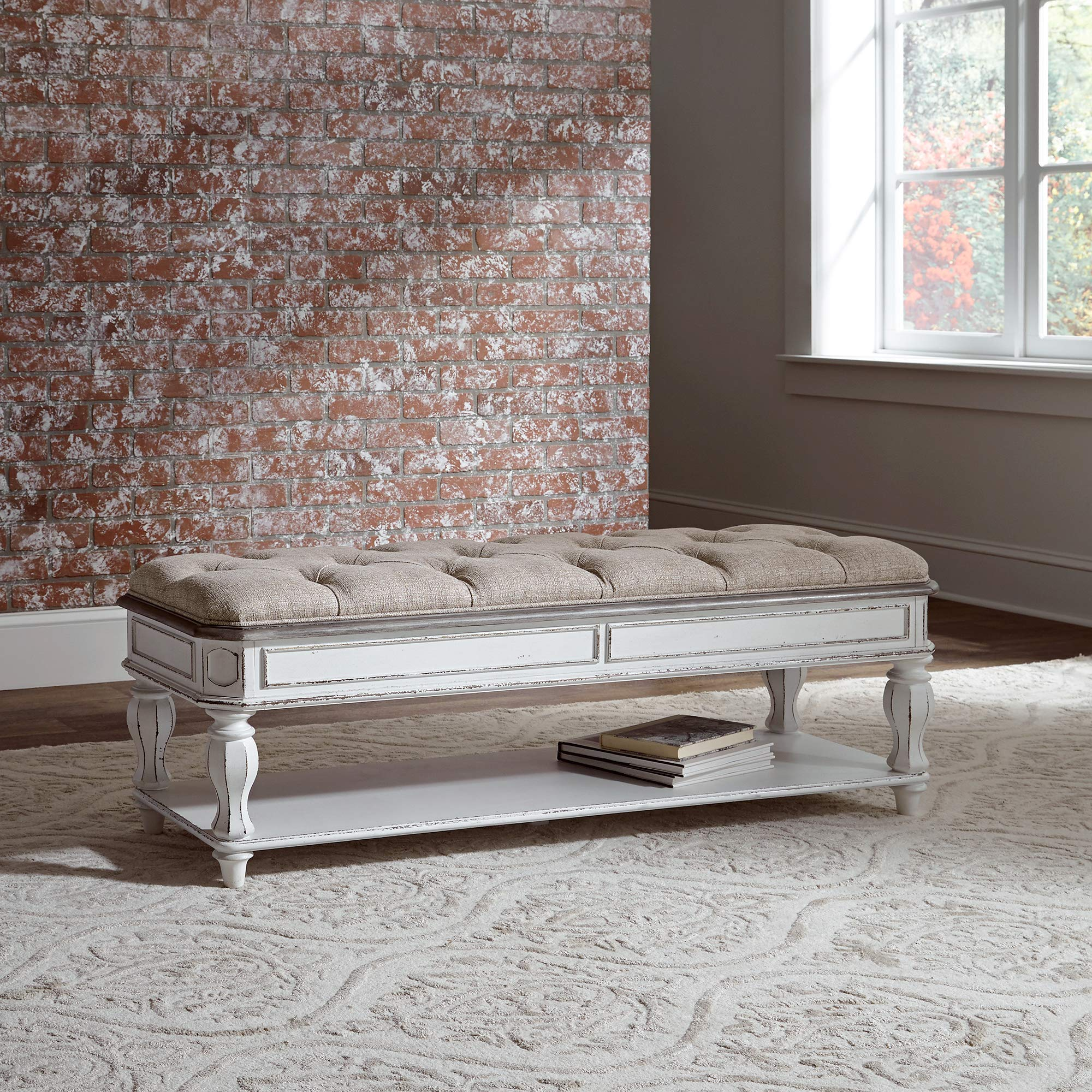 Liberty Furniture Industries Bed Bench, W54 x D18 x H20, White by Liberty Furniture INDUSTRIES