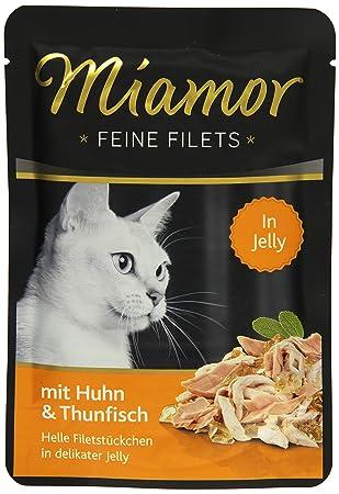 Miamor Katzenfutter Feine Filets Huhn & Thunfisch 100 g, 24er Pack (24 x 100 g)