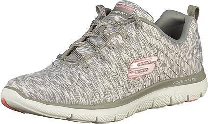 Détails sur Chaussures Skechers Flex Appeal 2.0 Reflection Gris Femme