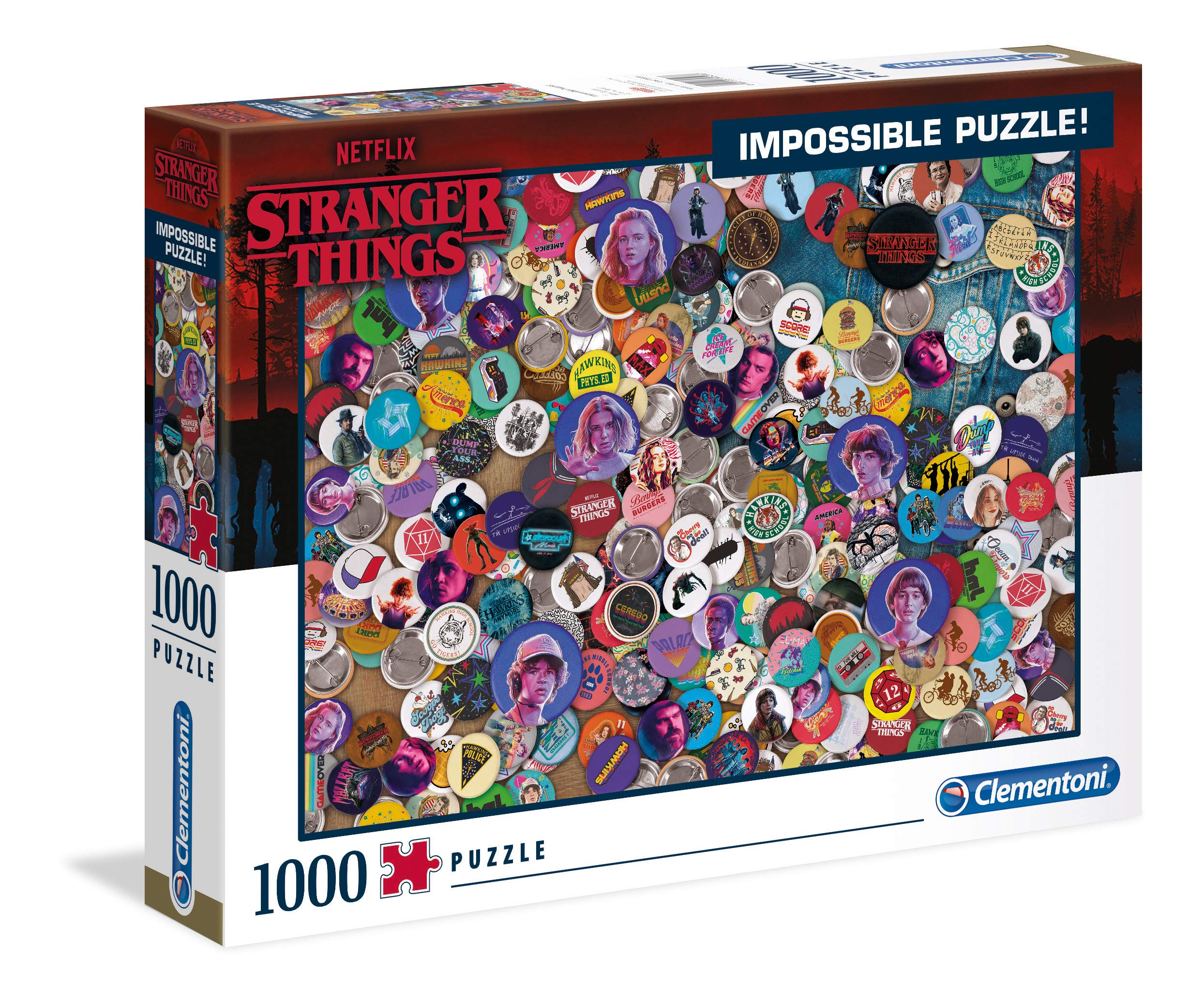 Clementoni 39528 Stranger Things Things-1000pc Impossible Puzzle