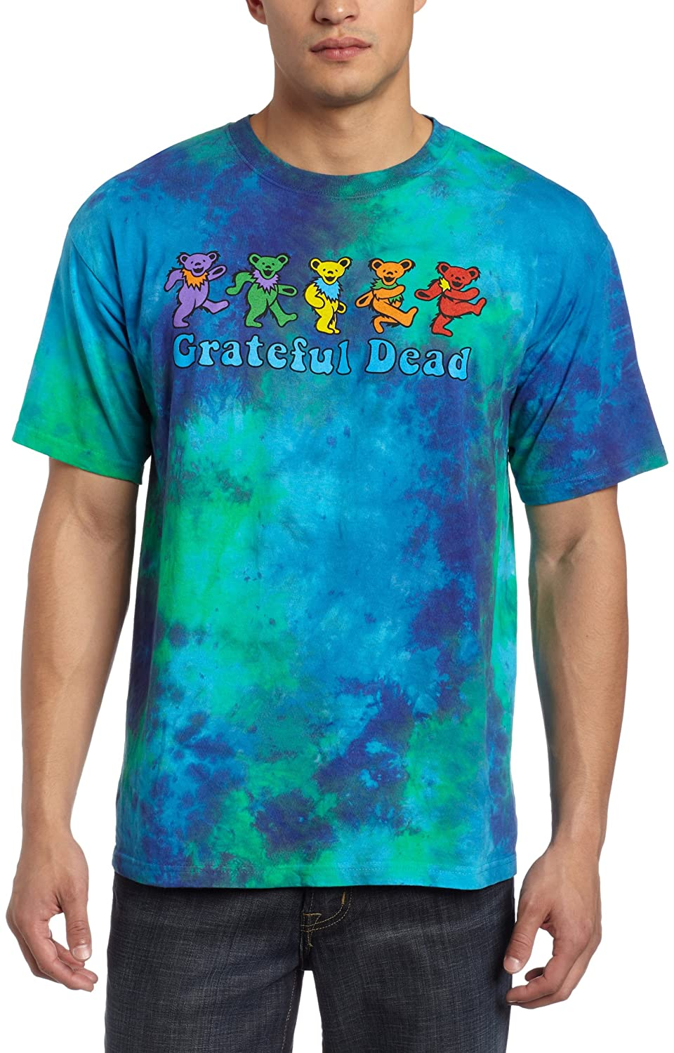 Liquid Blue Men's Grateful Dead Dancing Bear T-Shirt Liquid Blue Apparel 11307