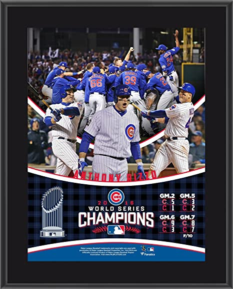 57f5d1c9e Anthony Rizzo Chicago Cubs 2016 MLB World Series Champions 10.5 quot  x  13 quot  Sublimated Plaque