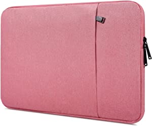 13-13.3 inch Waterpoof Laptop Sleeve Case for MacBook Pro 13.3 Retina, Dell XPS 13 7390 9380 9370/Inspiron 13 5000 7000, Lenovo Yoga 730, Acer Chromebook R 13, HP Samsung Carrying Tablet Bag, Pink