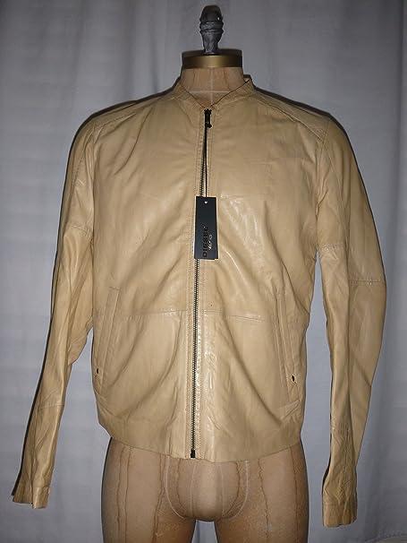 Diesel para hombre Chaqueta de piel cuero en color crema Tamaño XL losco estilo Diesel Black Gold Label Chaqueta marca nuevas etiquetas: Amazon.es: Ropa y ...