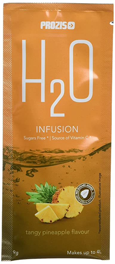 Prozis H2O Infusion 12x9g - Sobre de Bebida de Piña para la Hidratación Corporal - Repleto
