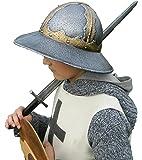 Medieval Knight Helmet for Kids. Iron Kettle Helmet