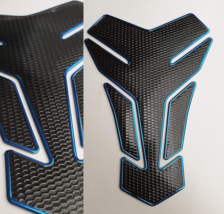 aspecto de carbono Honda universal negro Detalles sobre la protecci/ón del dep/ósito de combustible para motocicleta azul