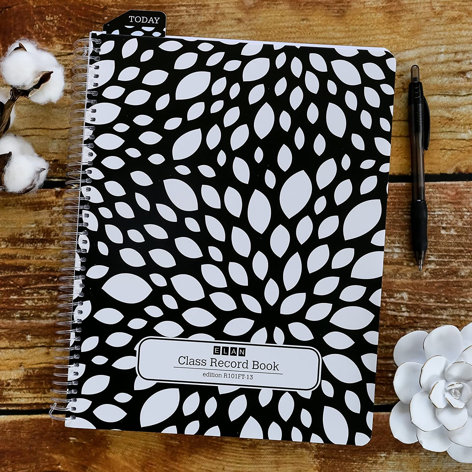 Amazon Class Record Book For 9 10 Weeks 50 Names R1010 Black Floral Office Products